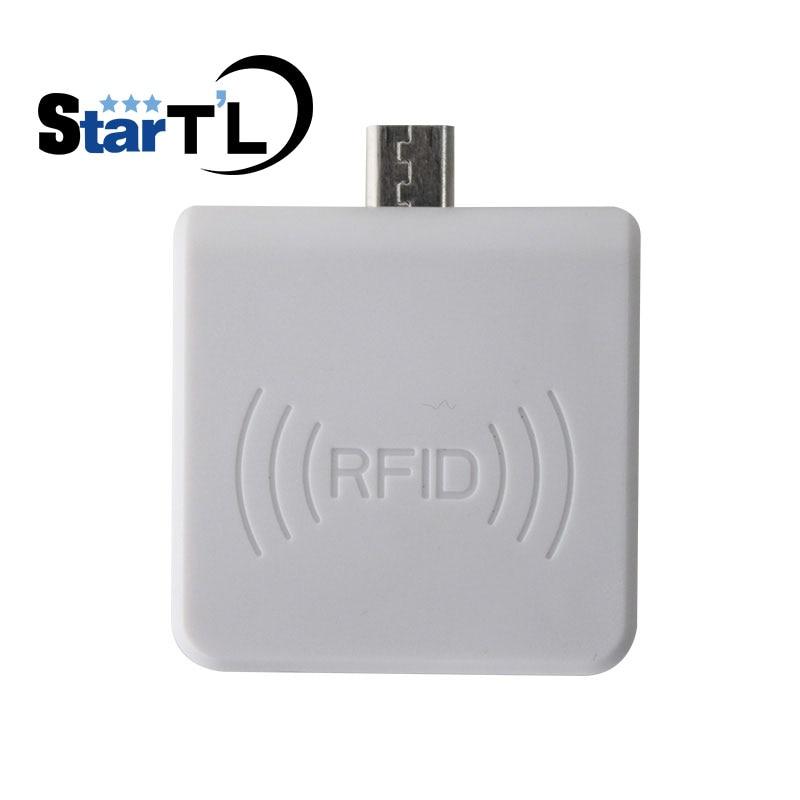 Envío libre Mini portátil 13,56 MHz proximidad EM tarjeta USB lector de tarjetas IC Win8/Android/OTG SmartPhone Android lector de tarjetas Rfid