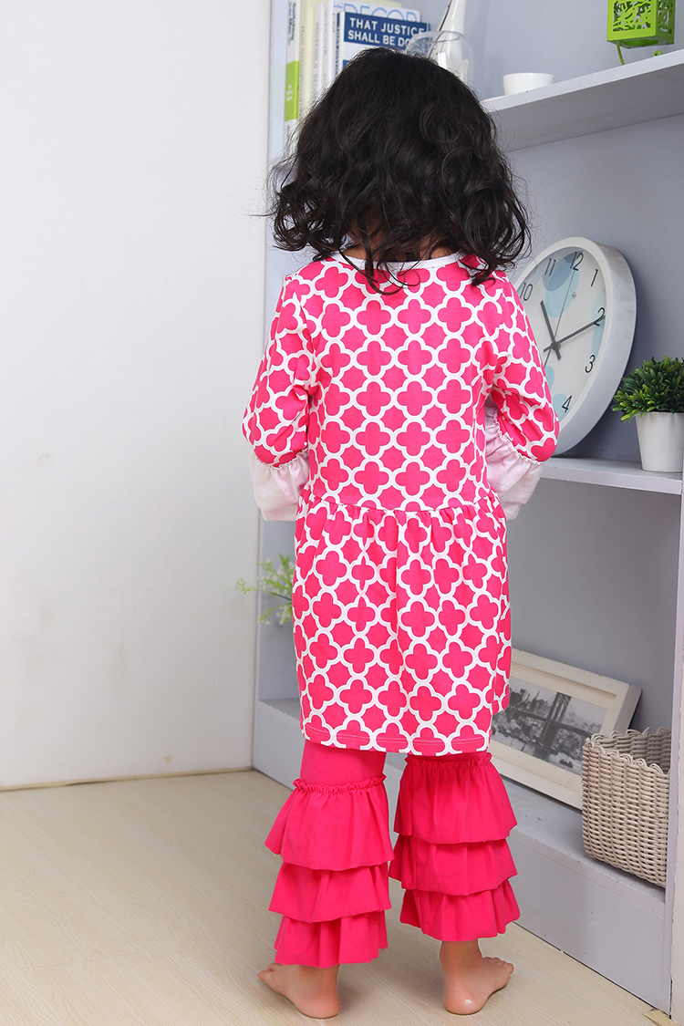 4ce190e40ab2 christmas clothes Fall suit hot pink Girls Outfit girl boutique clothing  ruffle pants long sleeve christmas outfits girls-in Clothing Sets from  Mother ...