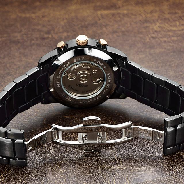 Swiss Luxury Brand NESUN Watch Multifunctional Display Automatic Self-Wind Watch 5