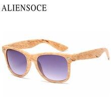 Nueva Imitación de Madera Del Grano De Moda gafas de Sol de Las Mujeres Gafas de Sol Reflectantes Cuadrados UV400 Gafas gafas De Sol Oculos