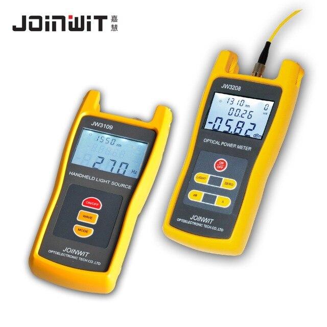 Fiber Optical Multimeter -70~+6dBm JW3208A High Precision Optical Power Meter and JW3109 Optical Light Source 1310/1550nm