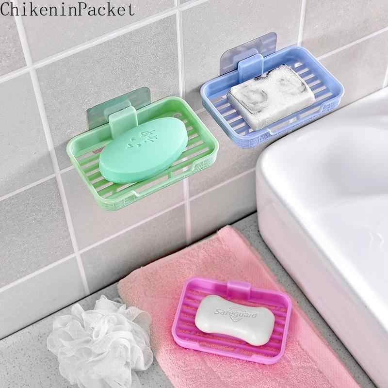 ChikeninPacket Suction Cup Bathroom Shower Travel Soap Box Dish Plate Holder Case Wall Mounted