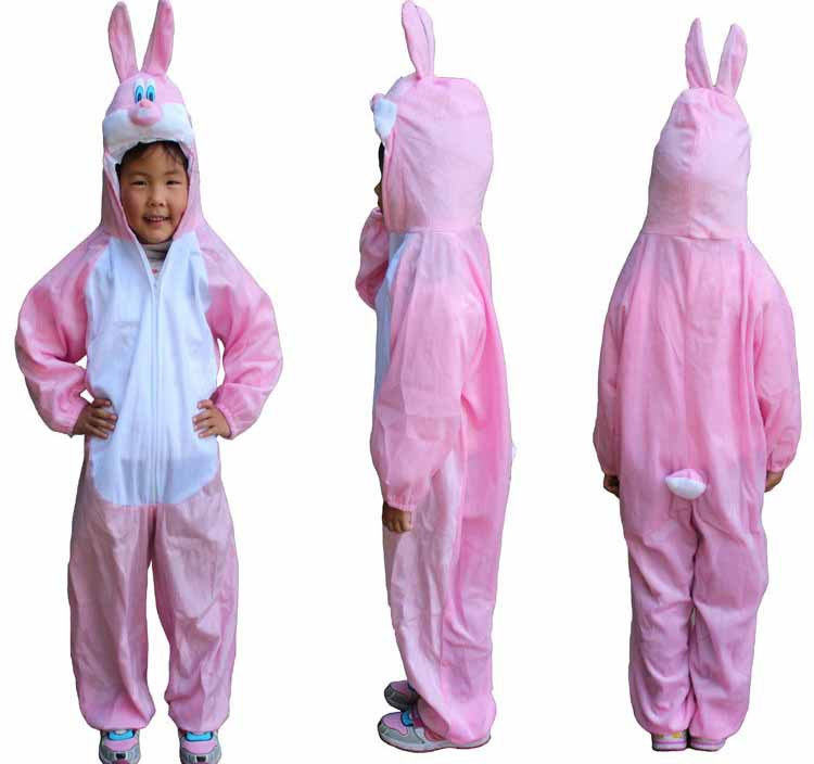 Free shipping ,,children easter costume pink white rabbit cosplay costume,clothing  for kid