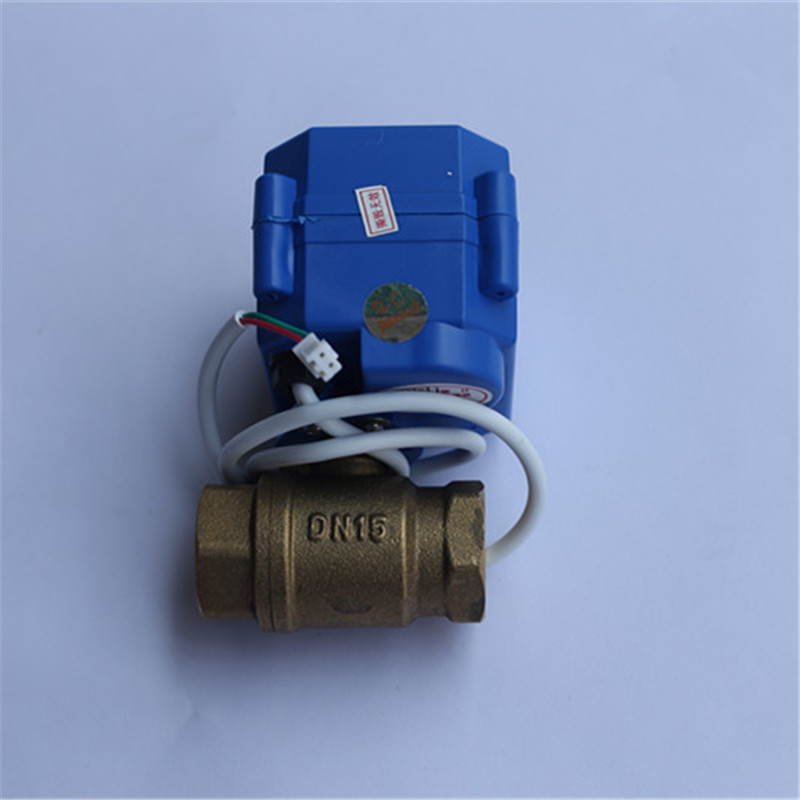 1/2(DN15) 3/4(DN20) 1(DN25) DC12V BSP NPT Brass Motorized Ball Valve 2 Wires Control for WLD-807 Water Leak Detection Alarm popular water leak detection alarm device wld 806 with dn20 motorized ball valve and 6meter sensor cable free shipping