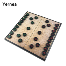 Yernea New Folding Portable Magnetic Chinese Chess Board Game Gift Toys Acrylic Christmas Birthday