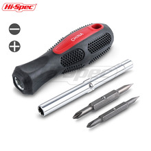 Hi-Spec 6 in 1 Multitool Screwdriver Set Dual Head Nut Driver Bit Phillips Slotted Hand Tool SD002