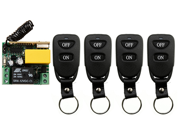 AC220V 1CH 10A Remote Control Light Switch Relay Output Radio Receiver Module and Belt buckle Transmitter