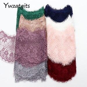 Image 5 - Ywzatgis вышитая Цветочная кружевная отделка для одежды, 14 цветов, сделай сам, швейное платье, 3 ярда в партии, YR0503