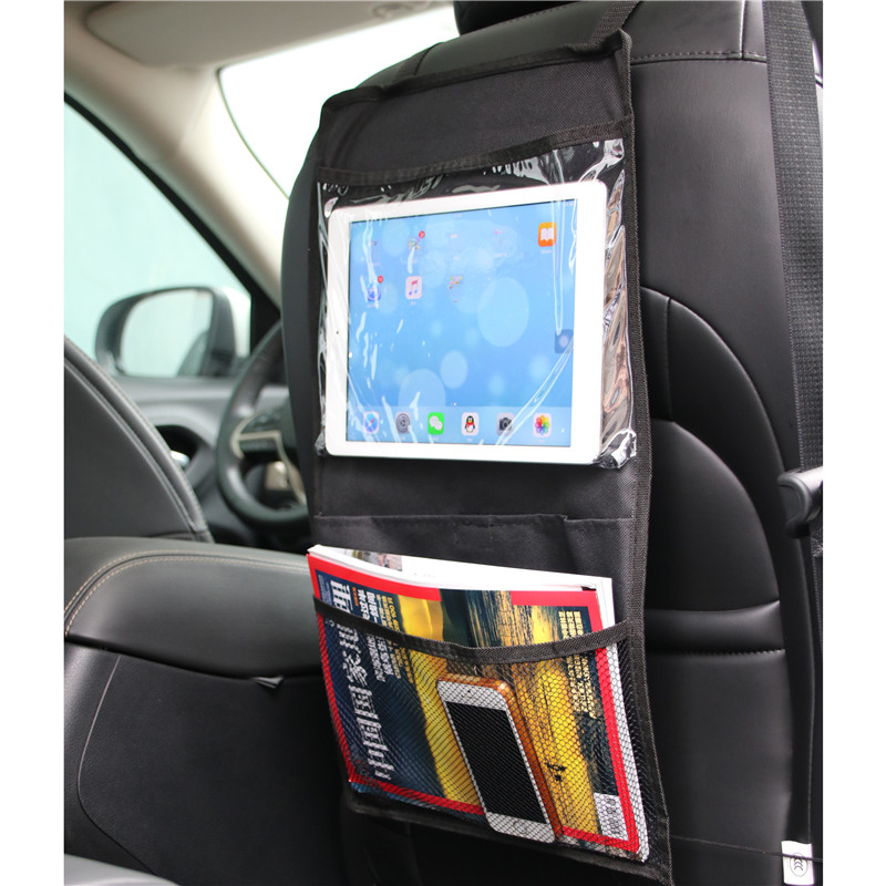 Portable Child Auto Organizer Storage Bag For Ipad Car Seat Back Hanging Bag Holder Storage Bag For Kids Mesh