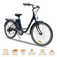 Vtuvia Электрический велосипед водостойкий 26 дюймов 36 В 350 Вт бесщеточный мотор Ebike 12Ah съемный литий ионный аккумулятор 7 скоростей Электрическ