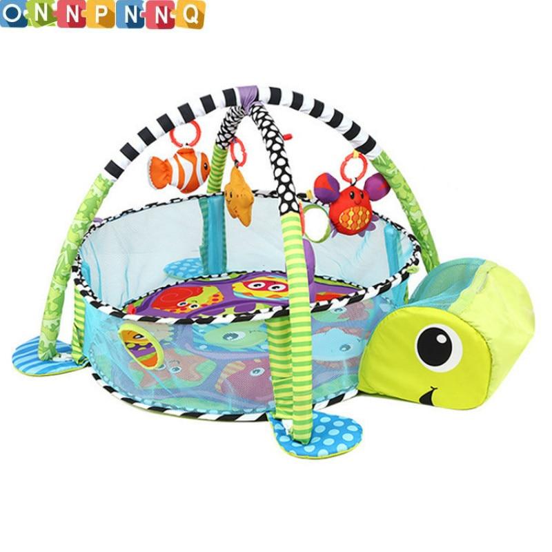 Lion bébé jouet bébé tapis de jeu 0-1 an jeu Tapete Infantil éducatif ramper tapis jouer Gym bande dessinée couverture balle Pit
