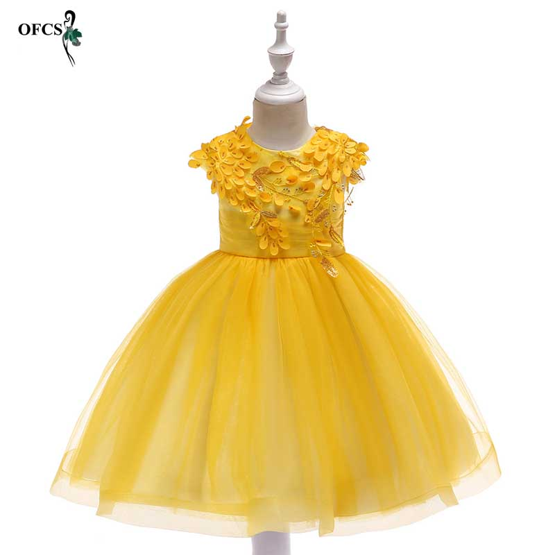 Teenagers Girls Leaves applique Dress Wedding Party Princess Christmas Dresse girl Party Costume Kids gauze Party girls ClothingTeenagers Girls Leaves applique Dress Wedding Party Princess Christmas Dresse girl Party Costume Kids gauze Party girls Clothing