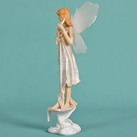 Beautiful girl creative gifts resin angel ornaments Artificial Resin Crafts Home Decor Miniature Fairy Figurines Flower Fairies
