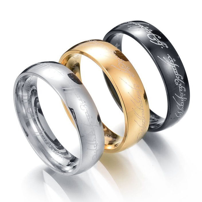 MMS One Ring of Power Gold Silver Black The Lord of Rings Women Finger Wedding Brand Fashion Jewelry Accessory Drop Shipping