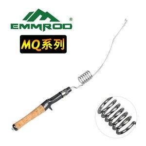 Emmrod inoxidável portátil fundição vara de pesca vara de pesca vara de pesca mar vara isca vara de pesca no gelo barco/jangada vara de rocha mqcoil