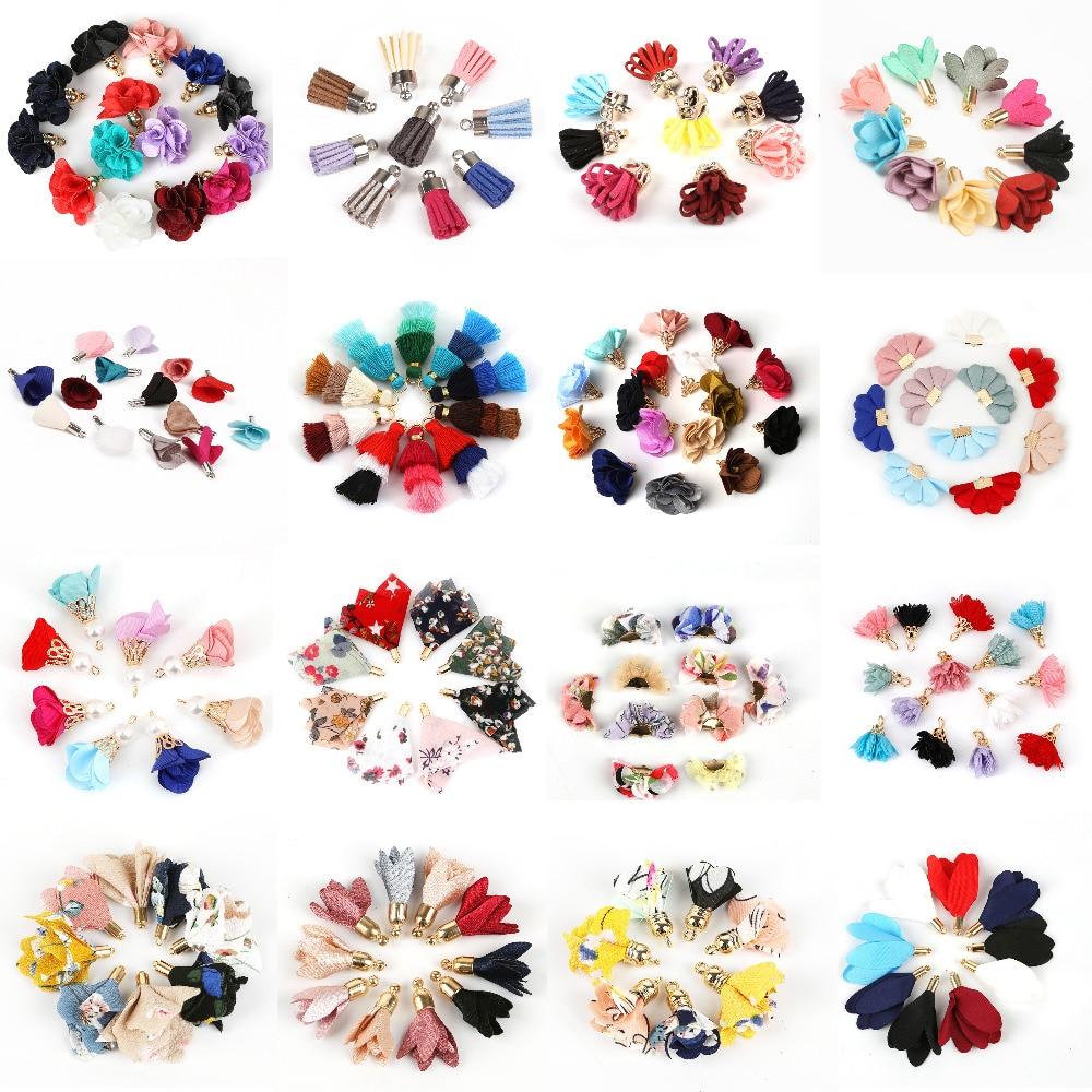 23 стиля, смешанные типы кисточек, цветок, шелк, полиэстер, подвески, подвеска, серьги, кисточка для ювелирных изделий, сделай сам
