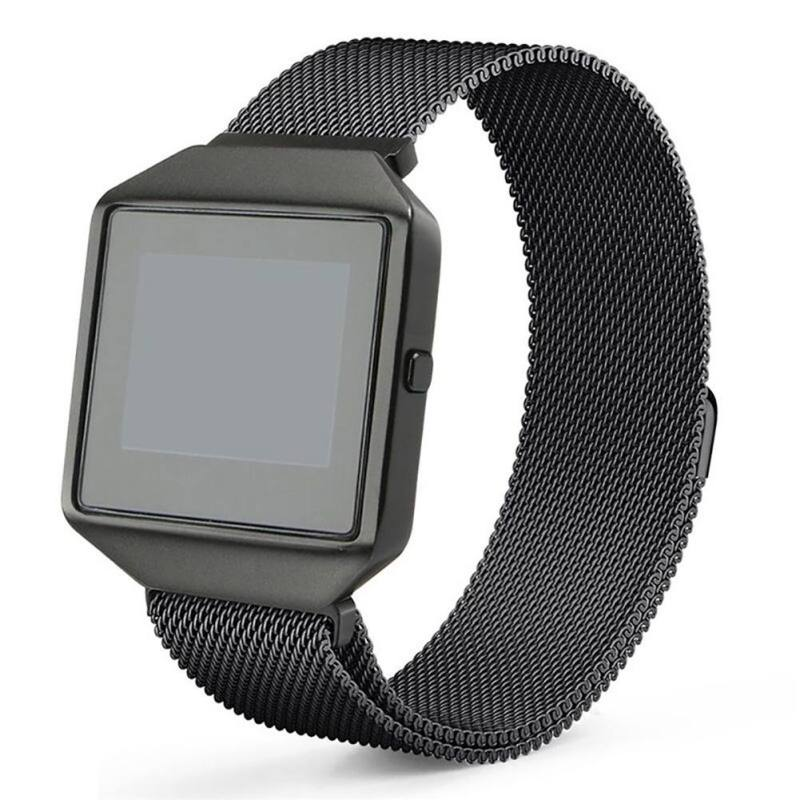 Frame Housing+Milanese Loop Stainless Steel Strap Accessories Band Bracelet for Fitbit Blaze II Smart Fitness Watch Straps Case стоимость