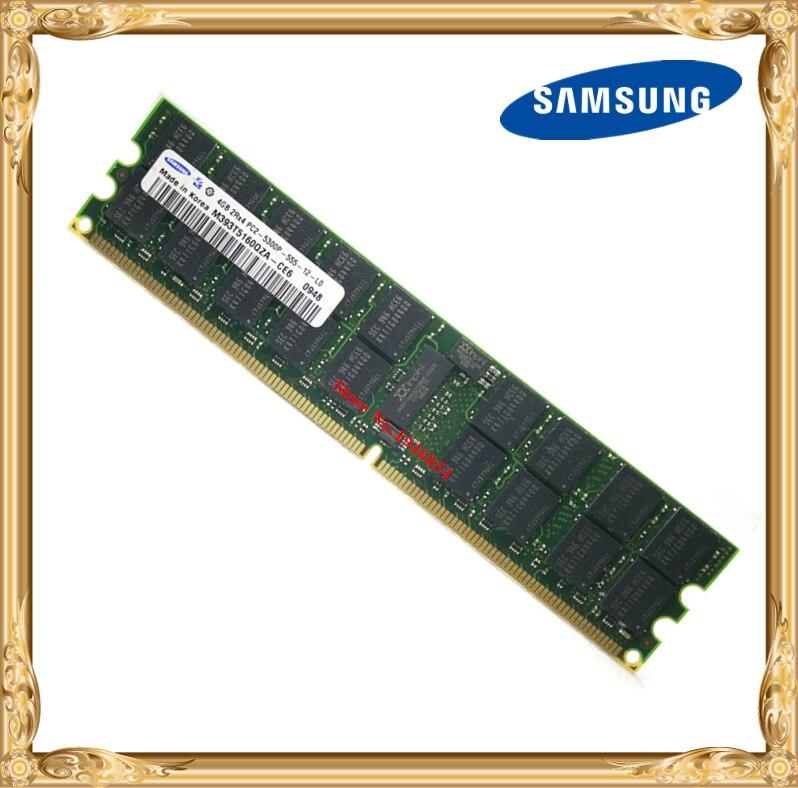 Samsung Serveur mémoire d'origine 4 GB DDR2 2Rx4 REG ECC RAM 667 MHz PC2-5300P 667 4G