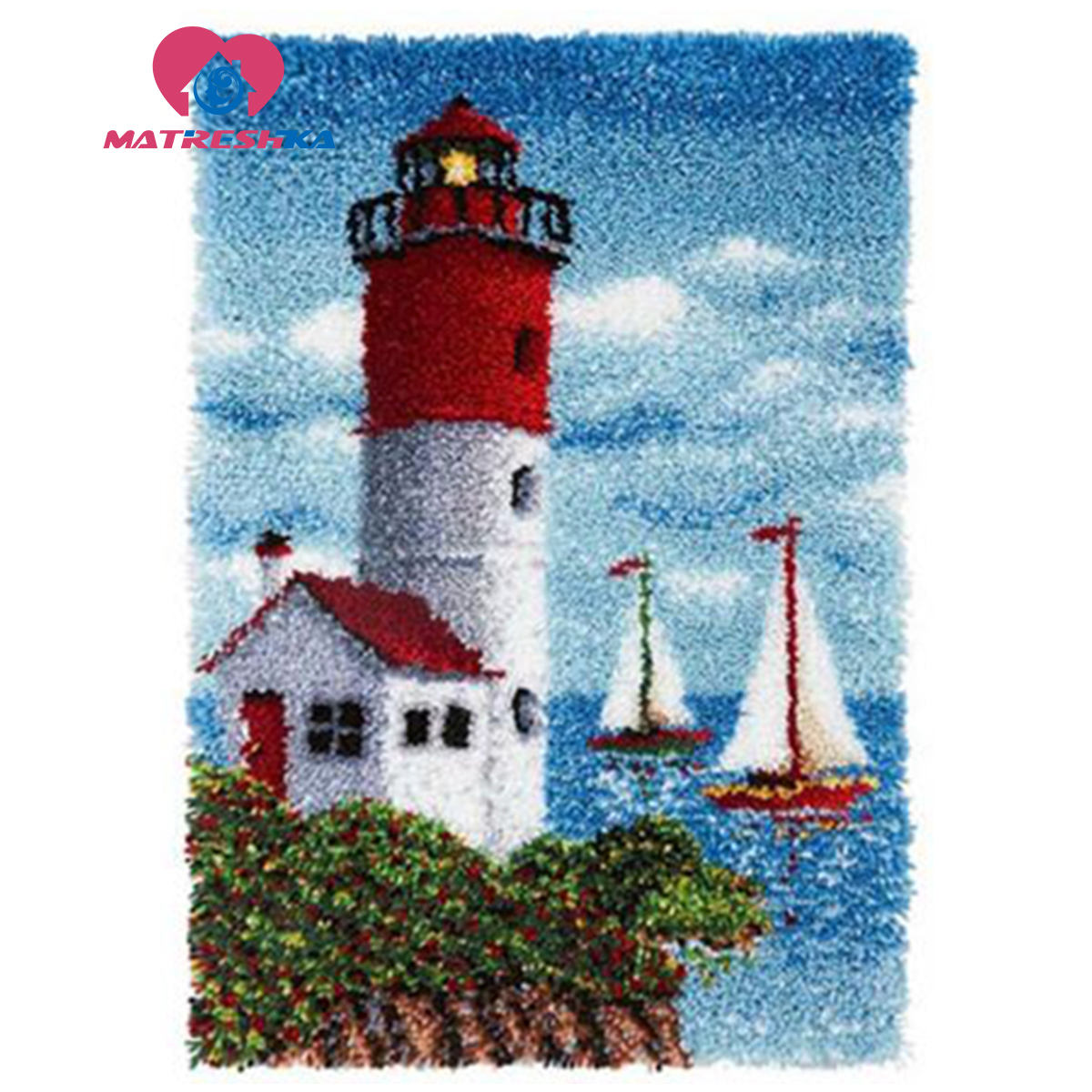 needle for carpet embroidery landscape lighthouse latch hook rug kits big size do it yourself needlework