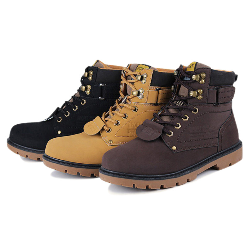 Men Ankle Boots Autumn Winter Warm Fur Lace-up Shoes Plus Size 39~46 Fashion Casual Boots Solid Colors Boots work & Safety serene handmade winter warm socks boots fashion british style leather retro tooling ankle men shoes size38 44 snow male footwear