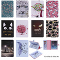 For Apple iPad 5 iPad5 Case Cartoon Pattern Flip PU Leather With Card Slot For iPad Air 9.7'' Back Cover with auto sleep/wake up