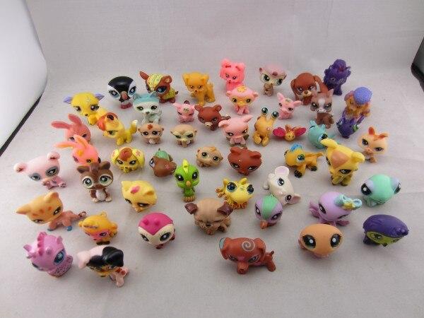 1Pcs/Lot Anime Cute Animals Q Pet Shop Action Figure Collection Toys Scale Models Kids Toys Girl Dolls Gifts cute animals figure dolls finger puppets plush toys 10 pcs