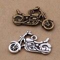Yage 30 unids/lote Plata Antigua y de Bronce Antiguo encantos de la motocicleta Colgante encantos ajuste pulsera XBL5638