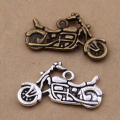 Yage 30pcs/lot Antique Silver and Antique Bronze motorcycle charms Pendant fit charms bracelet XBL5638