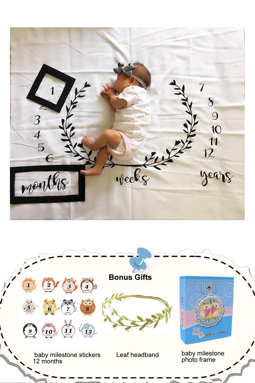 LIFE MAGIC BOX vinyle bébé jalon photographie décors noir et blanc calendrier arrière-plans ensemble