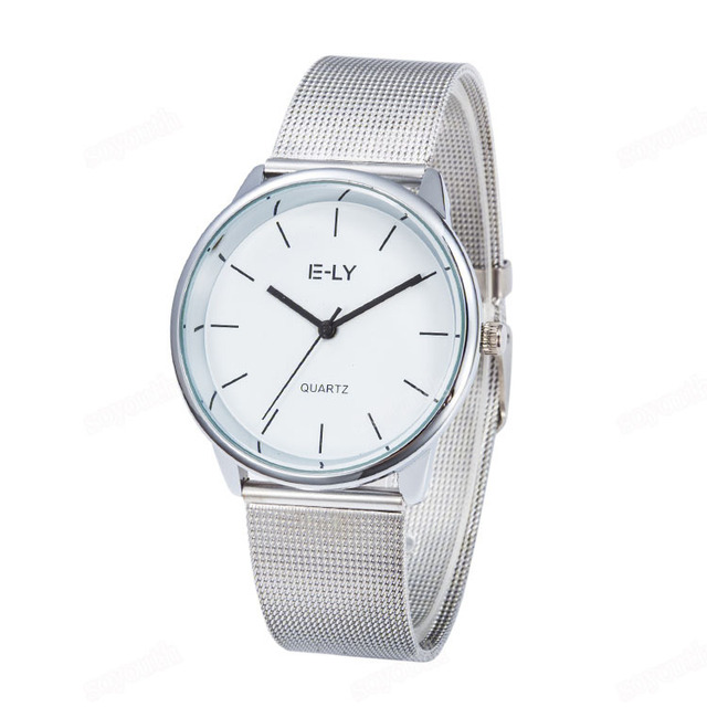 Colorful Dial Mesh Stainless Steel Watch 1