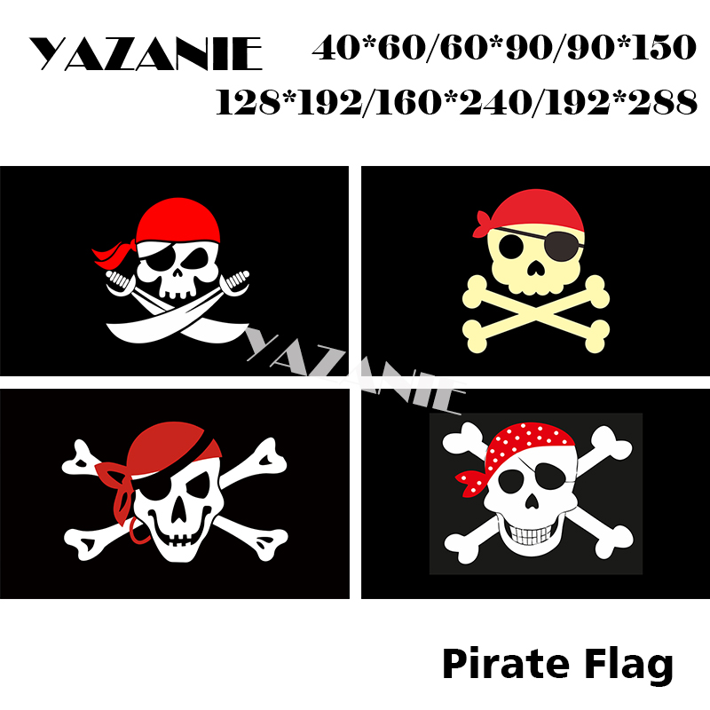 DOUBLE SIDED  2/' X 3/'  SKULL AND CROSSED BONES RED HAT JOLLY ROGER PIRATE FLAG