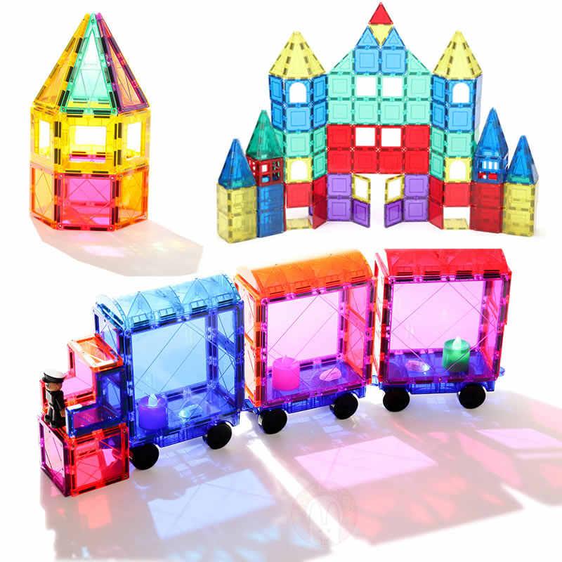 Magnetic Blok Bangunan Magnetik Ubin Permainan Konstruktor Magnet Model Mainan Pendidikan Mainan untuk Anak Lovelytoo