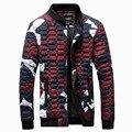 2016 Marca Nueva Moda de Invierno Chaqueta de Los Hombres Delgada Camuflaje Ocasional Abajo Cubre la Venta Caliente Amantes de La Moda Ropa de Talla: S-4XL