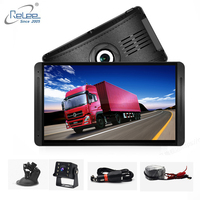 Relee Dash camera 7 inch Dual DVR 1080P front rear Video drving recorder bus rearview security Camera DVR for truck