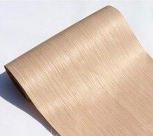Chapa de madera de roble 007S, 2 unid/lote, L: 2,5 metros de ancho: 55cm, tecnología no tejida