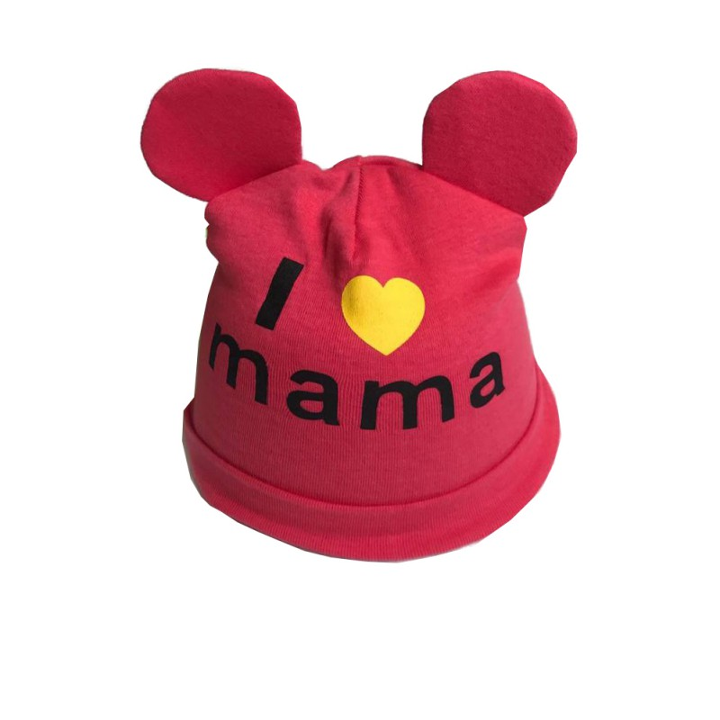 Baby Boys and Girls Hat Newborn Baby Cotton Skullies Love mama print Caps Hats For Baby Girls Knitted Beanies Cap lovely toddler first walkers baby boys and girls cotton shoes soft bottom hook sneakers i love mom dad