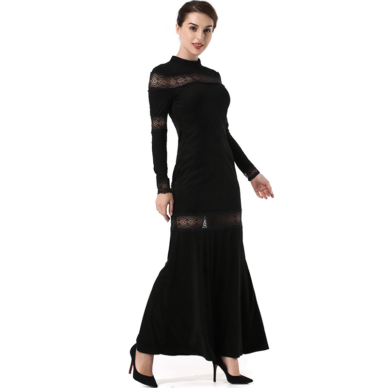 Haute qualité Maxi robe à manches longues Maxi évider Sexy Club robes longue robe en gros
