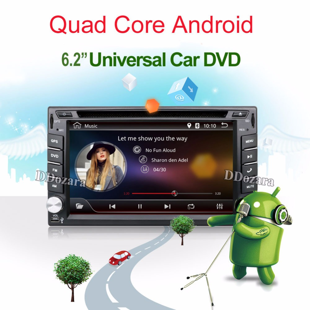 imágenes para Quad Core 2 din android radio de coche grabadora de navegación reproductor de dvd 2din captiva volante Retrovisor Cámara WIFI TV (opcional)