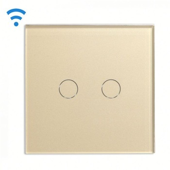 Bseed Wireless Touch Switch 2 Gang 1 Way Touch Dimmer With Remote Control Gold Dimmable Switch Eu Uk Us Au eu us smart home remote touch switch 1 gang 1 way itead sonoff crystal glass panel touch switch touch switch wifi led backlight