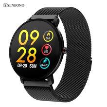 Senbono k9 esporte bluetooth 1.3 Polegada, tela de toque completa, smartwatch fitness masculino, à prova d água ip68, smartwatch pk v11 k1
