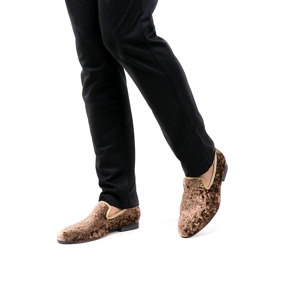 Moda Especial Flor Mocasines Marrón Nuevo 2018 Imprimir Piergitar artesanal De Zapatos Boda Partido Pisos Los Terciopelo Hombres Y Marrón q1FZw1S