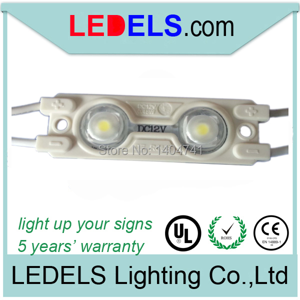 100pcs/ lot 12VDC 0.48W white led module 5050 for letter sign, UL approved signage led m ...
