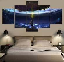 Sword Art Online Anime HD Print Painting Modern Canvas Wall 5 Piece For Living Room Artwork