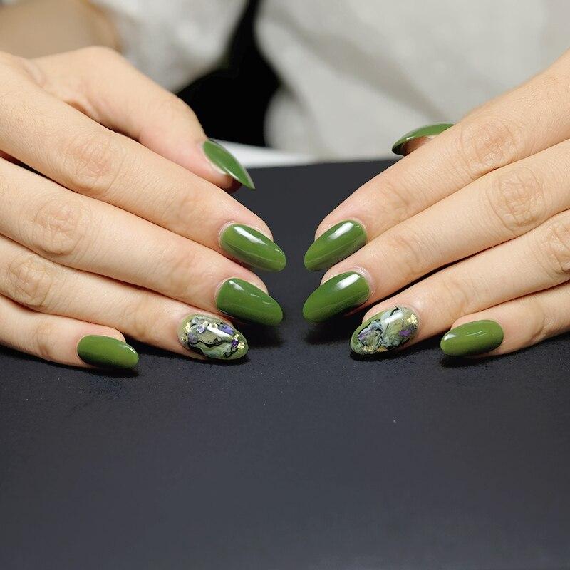 Belle Fille Uv Gel Nail Polish Olive Green Uv Soak Off Nail Art Manicure Store Uv Lacquer Gel Varnish Nail Gel Polish 1545