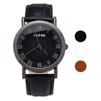 2016 Classic Casual Watch Unisex Contracted Roman Numerals Watches Leather Band Numeral Dial Reloj Hombres Wholesale