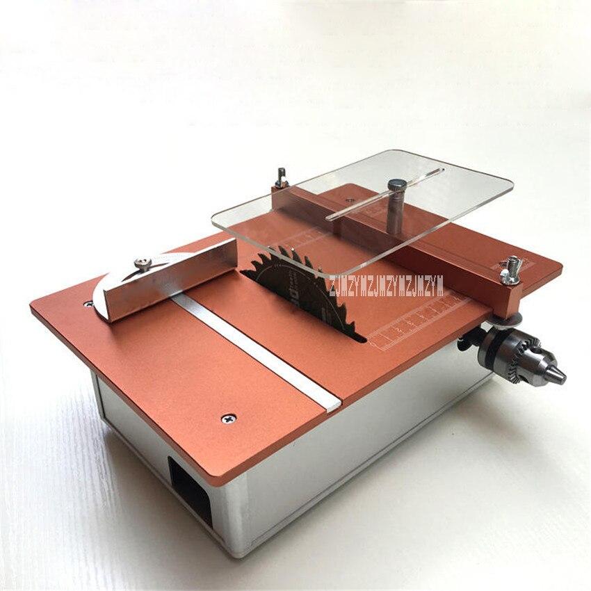 New Small Woodworking Saws Multifunctional Miniature Table Saw Diy Desktop Cutter Mini Table Saw 12v-24v/4-10A 5000-10000 r/min polaris сковорода polaris genio 26f с антипригарным покрытием 26 см
