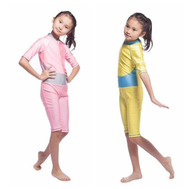 f233af323b825 *Outdoor Child Kids Girls Muslim Arab Swimsuit Modest Swimwear Islamic Full  Covered Beachwear Bathing Suit