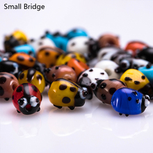 10pcs Loose Fashion Ladybug Shape Glass Lampwork Beads Material For Jewelry Making Mixed Color Diy Womens Wholesale L4