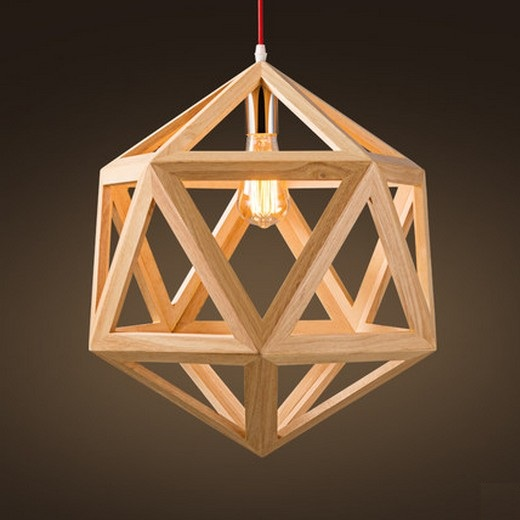 Nordic Loft Style Geometric Wooden Modern Droplight Edison Pendant Light Fixtures For Dining Room Hanging Lamp Indoor Lighting edison loft style wooden gourd droplight modern pendant light fixtures for living dining room hanging lamp indoor lighting