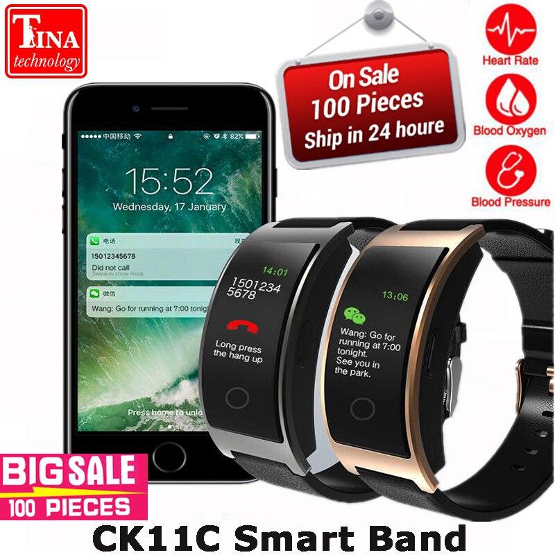 Neue CK11C Smart Band Bunte Heart Rate Monitor Armband Blutdruck Fitness Tracker Smart band Sport Uhr Armband